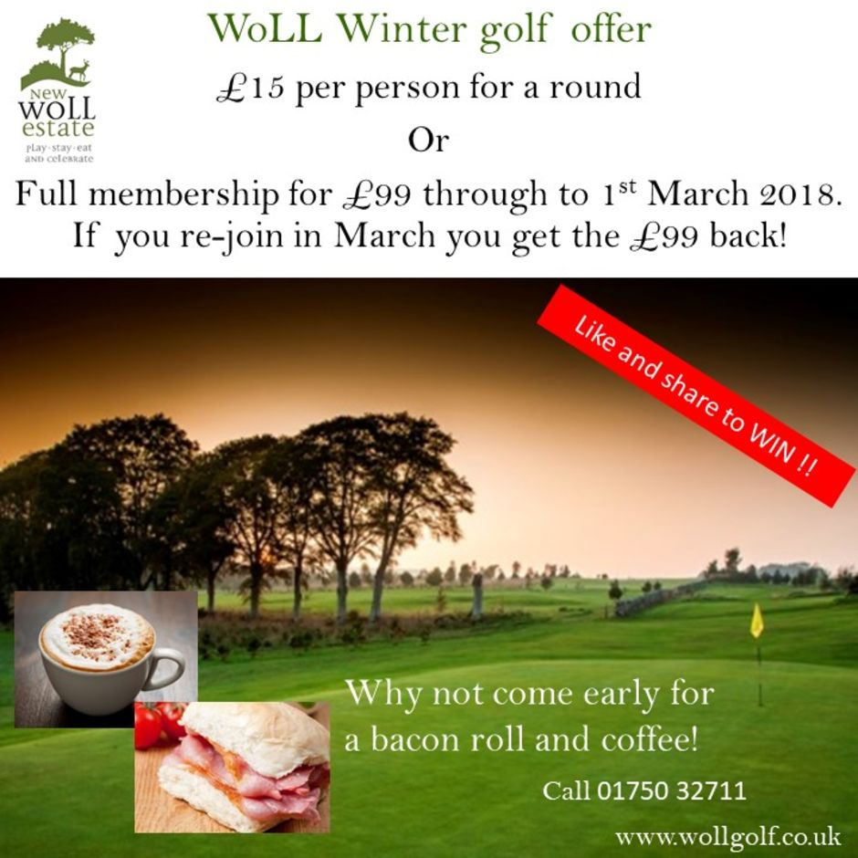 Winter offers at The Woll Golf course